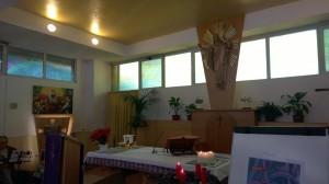 Vista laterale altare